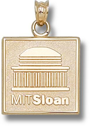 """Massachusetts Institute of Technology """"Sloan"""" Logo 5/8"""" Lapel Pin - Sterling Silver Jewelry"""