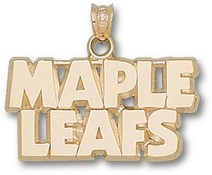 "Toronto Maple Leafs """"Maple Leafs"""" Pendant - 14KT Gold Jewelry"" LGA-MLE001-G"
