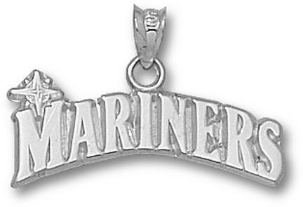 "Seattle Mariners """"Mariners"""" 1/4"""" Pendant - Sterling Silver Jewelry"" LGA-MRN001-S"