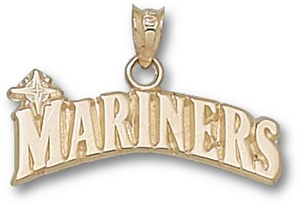 "Seattle Mariners """"Mariners"""" 1/4"""" Pendant - 10KT Gold Jewelry"" LGA-MRN001-10K"