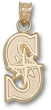 "Seattle Mariners """"S"""" 5/8"""" Pendant - 10KT Gold Jewelry"" LGA-MRN002-10K"