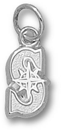 "Seattle Mariners """"S"""" 3/8"""" Charm - Sterling Silver Jewelry"" LGA-MRN005-S"