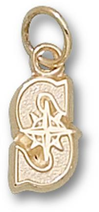 "Seattle Mariners """"S"""" 3/8"""" Charm - 10KT Gold Jewelry"" LGA-MRN005-10K"