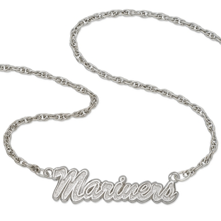 "Seattle Mariners """"Mariners"""" Sterling Silver Script Necklace"" LGA-MRN029N-SS"