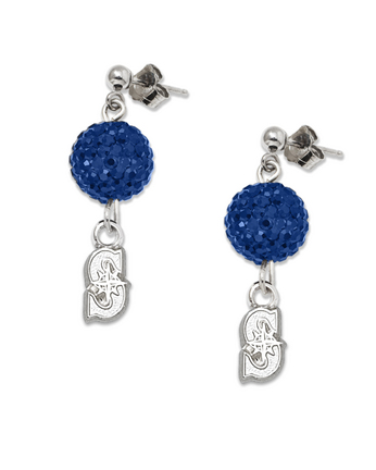 Seattle Mariners Ovation Crystal Earrings LGA-MRN069ERB-SS
