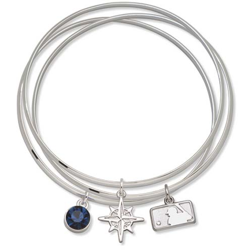 Seattle Mariners Batterman Triple Bangle Bracelet LGA-MRNTBB-MLB