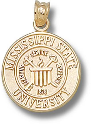 """Mississippi State Bulldogs """"Seal"""" Lapel Pin - 10KT Gold Jewelry"""