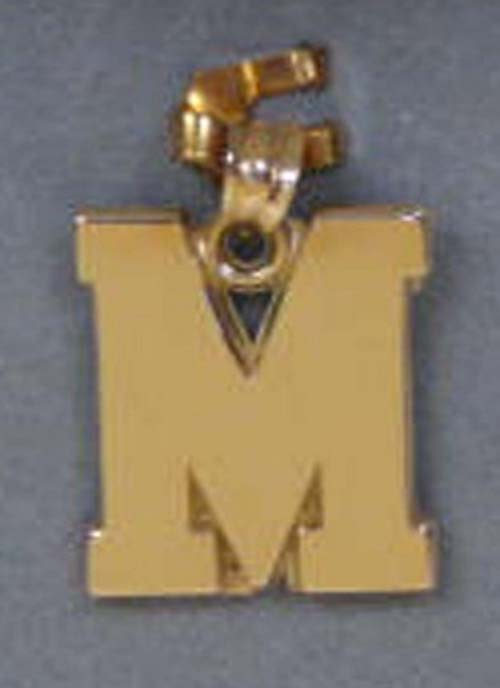 Miami (Ohio) RedHawks M Pendant - 14KT Gold Jewelry