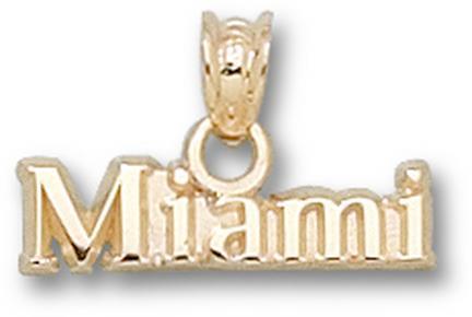 "Miami (Ohio) RedHawks """"Miami"""" Pendant - 14KT Gold Jewelry"" LGA-MU004-G"