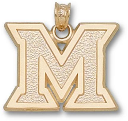 "Miami (Ohio) RedHawks """"M"""" Pendant - 10KT Gold Jewelry"" LGA-MU012-10K"