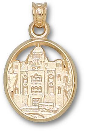 """Mount Union Purple Raiders """"Chapman Hall"""" Lapel Pin - 10KT Gold Jewelry"""