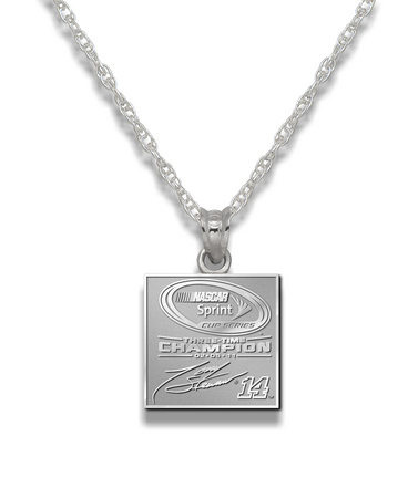"""Tony Stewart 2011 NASCAR Sprint Cup Champion Pendant on an 18"""""""" Chain - Sterling Silver Jewelry"""" LGA-NA1401CHN-SS"""