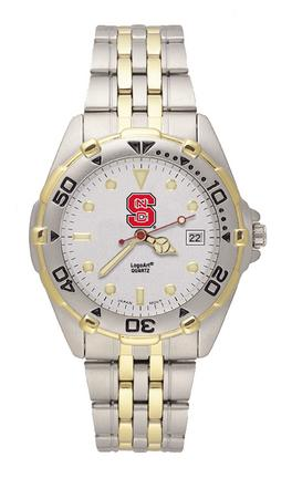 North Carolina State Wolfpack S All Star Watch with Stainless Steel Band - Men's