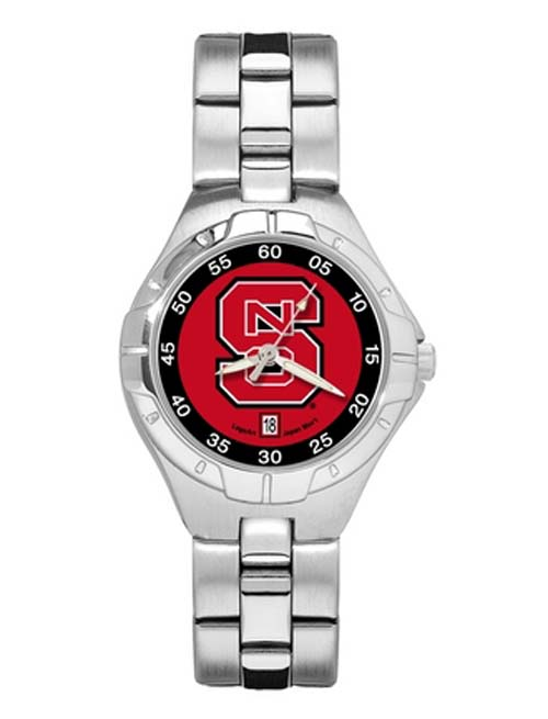 North Carolina State Wolfpack Woman's Pro II Watch with Stainless Steel Bracelet