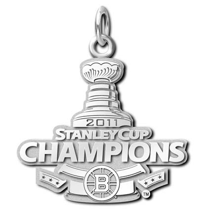 Boston Bruins 2011 Stanley Cup Champions Charm - Sterling Silver Jewelry LGA-NHL11B-SS