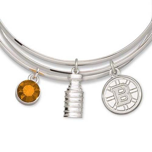Boston Bruins 2011 Stanley Cup Champions Triple Bangle Bracelet LGA-NHL11BRI-TBB