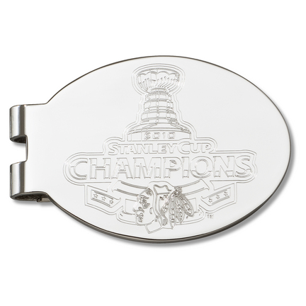 Chicago Blackhawks 2010 Stanley Cup Champions Laser Etched Oval Money Clip LGA-NHL2010-MC