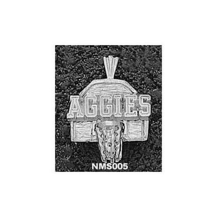 New Mexico State Aggies Aggies Basketball Backboard Pendant – Sterling Silver Jewelry