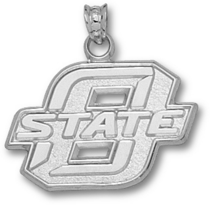 Oklahoma State Cowboys New Block O State 5/8 Pendant - Sterling Silver Jewelry