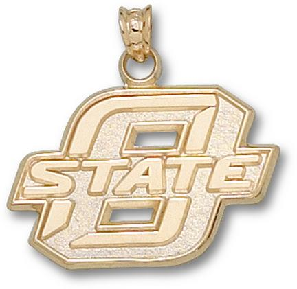 "Oklahoma State Cowboys New Block ""O"" 5/8"" Lapel Pin - Sterling Silver Jewelry"