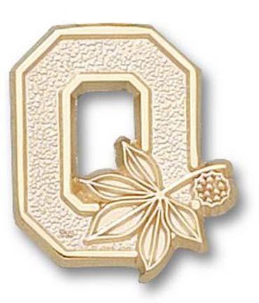 """Ohio State Buckeyes """"O"""" Lapel Pin - 14KT Gold Jewelry"""