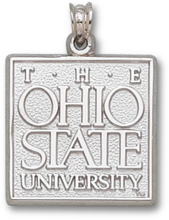 Ohio State Buckeyes The Ohio State University Square Pendant Sterling Silver Jewelry