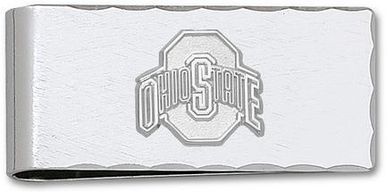 "Ohio State Buckeyes 5/8"""" Sterling Silver Athletic """"O"""" on Nickel Plated Money Clip"" LGA-OSU012MC-SS"
