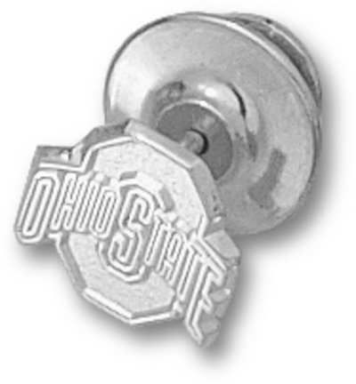 "Ohio State Buckeyes Athletic Block ""O"" 3/8"" Lapel Pin - Sterling Silver Jewelry"