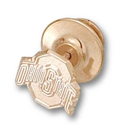 "Ohio State Buckeyes Athletic Block ""O"" 3/8"" Lapel Pin - 14KT Gold Jewelry"