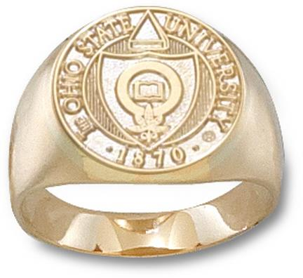 Ohio State Buckeyes Seal Mens Ring Size 10 12  14KT Gold Jewelry
