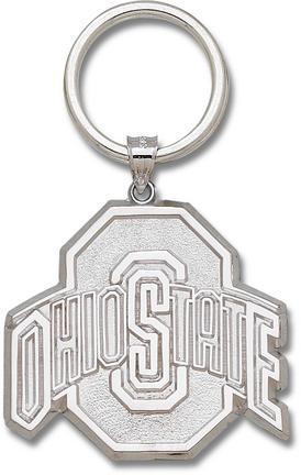 """Ohio State Buckeyes Sterling Silver Athletic """"""""O"""""""" Key Ring"""" LGA-OSU028KR-SS"""
