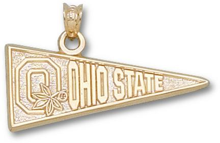 "Ohio State Buckeyes Block ""O"" Pennant Lapel Pin - Sterling Silver Jewelry"