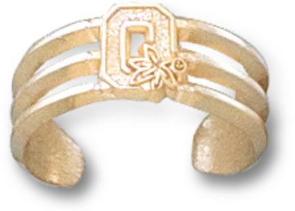 "Ohio State Buckeyes Block ""O"" Toe Ring - 10KT Gold Jewelry"