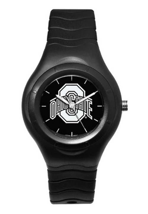 Ohio State Buckeyes Shadow Black Sports Watch with White Logo