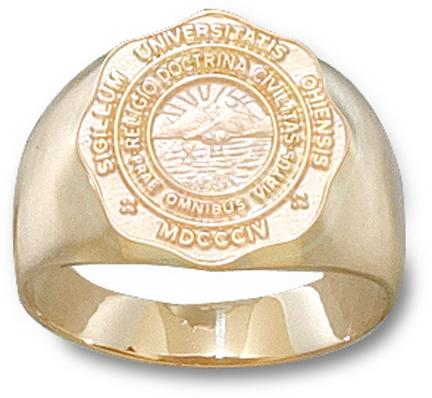 Ohio University Bobcats Seal Mens Ring Size 10  14KT Gold Jewelry