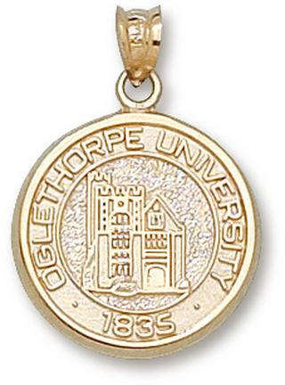"Oglethorpe Stormy Petrels ""U"" Round Seal Lapel Pin - 10KT Gold Jewelry"