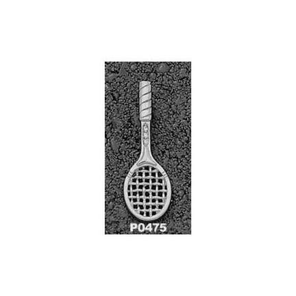 Tennis Racquet with .03 Cubic Zirconia Pendant - Sterling Silver Jewelry