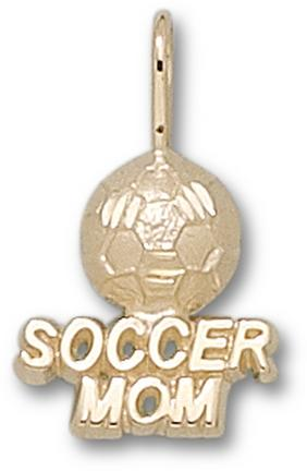 Soccer Mom with Soccer Ball Pendant - 14KT Gold Jewelry