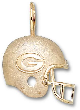 Green Bay Packers G Helmet Pendant - 14KT Gold Jewelry