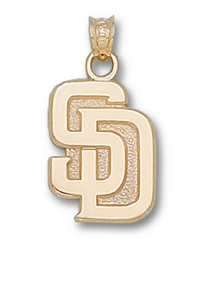 """San Diego Padres New """"SD"""" 5/8"""" Lapel Pin - 10KT Gold Jewelry"""