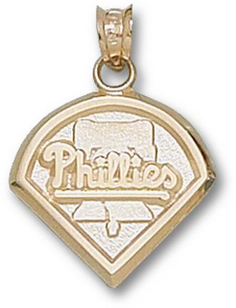 Philadelphia Phillies 'Phillies Club Logo' 5/8in Pendant - 14KT Gold Jewelry