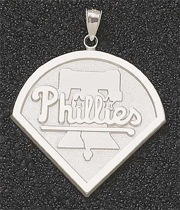 Philadelphia Phillies Giant 1 3/4in W x 1 3/4in H 'Phillies Club Logo' Pendant - 14KT Gold Jewelry (the image just shows the design)