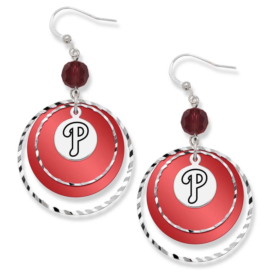 Philadelphia Phillies Game Day Earrings LGA-PHI068ER-CR