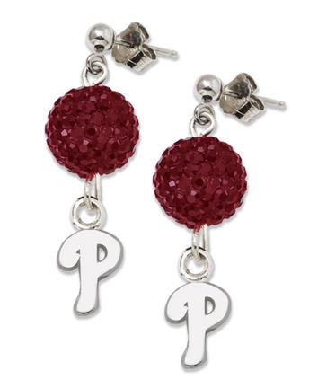Philadelphia Phillies Ovation Crystal Earrings