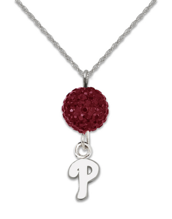 Philadelphia Phillies Ovation Crystal Necklace
