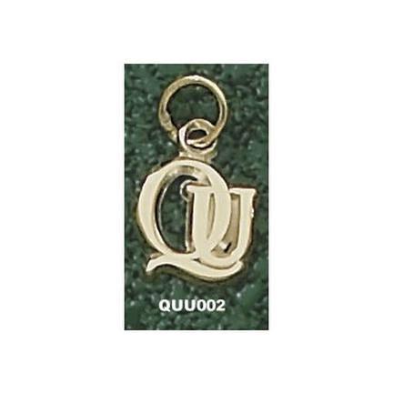 """Quinnipiac Braves """"QU"""" 3/8"""" Lapel Pin - Sterling Silver Jewelry"""