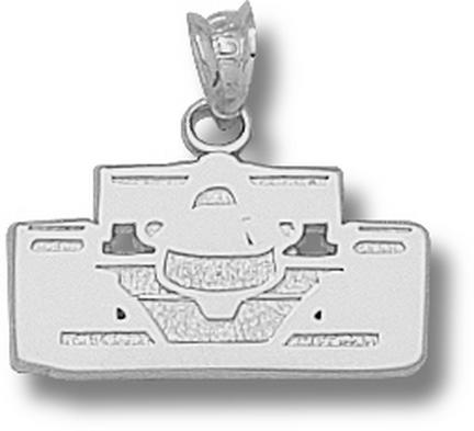 Indianapolis Motor Speedway Open Wheel Car Front View Pendant  Sterling Silver Jewelry