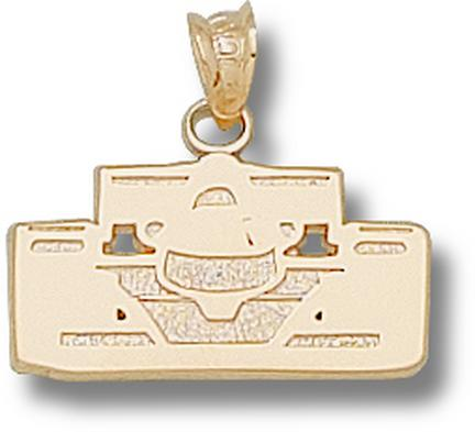 Indianapolis Motor Speedway Open Wheel Car Front View Pendant  14KT Gold Jewelry