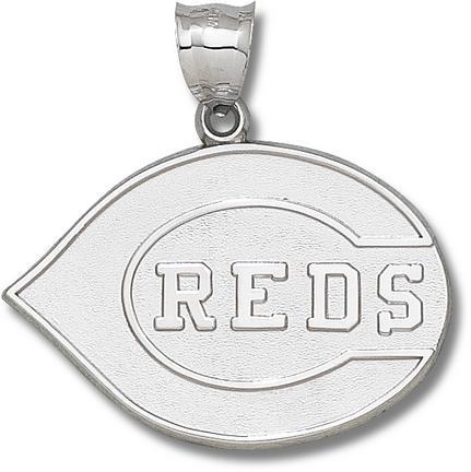 Cincinnati Reds Giant 1 7/8 W X 1 1/4 H C Reds Club Logo Pendant Sterling Silver Jewelry