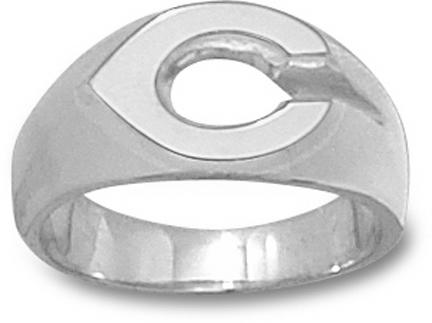Cincinnati Reds Polished C Mens Ring Size 9 1/2 Sterling Silver Jewelry